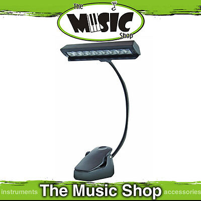 AMS LED MSL9 Battery Powered Music Stand Light - 9 bright LED's with Stand Clip