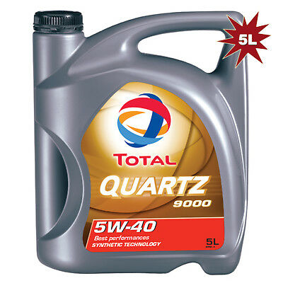 Total Quartz 9000 5W-40 Synthetic Car Engine Motor Oil 5 Litre