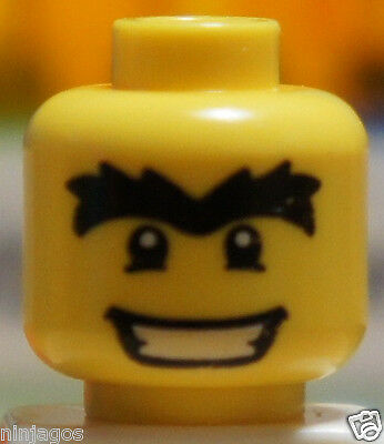 LEGO Head Piece HAPPY GUY Face Wink Expression Body Part for Minifigure
