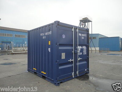 Shipping Containers 10 Ft New Build Ral 5013 Sat Southampton Depot
