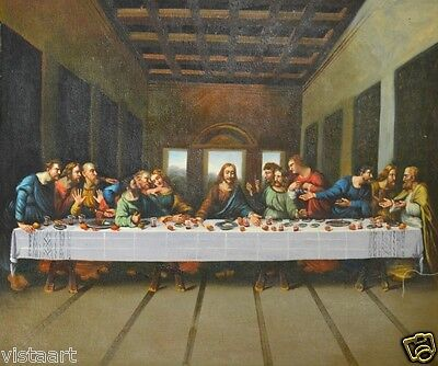 "Oil Painting on Stretched Canvas 20x24""- ""The Great Supper"""