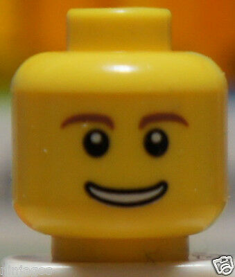 LEGO H027 Head Piece HAPPY Missing Tooth Face Expression Part for Minifigure