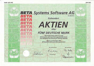 Beta Systems Software AG, Berlin 1995 - 500 DM -