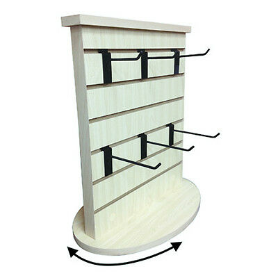 "Slatwall Counter Top Rotating Display Spinner Tower Maple 18""L x 12"" D x 21.5"" H"