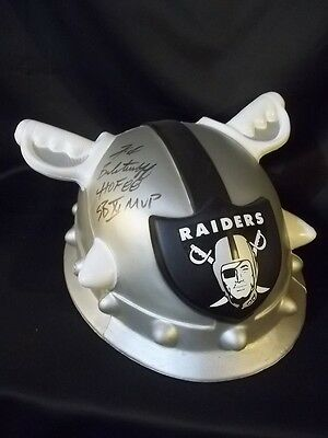 Fred Biletnikoff OAKLAND RAIDERS SUPER BOWL XI MVP SIGNED RAIDERHEAD FOAM HAT