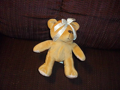 Cherished Teddies Plush Doll Figure Beanbag Teddy With A Heart Of Gold 1998