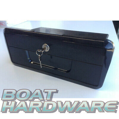 Boat Caravan Recessed Large Compartment Glove Storage Box With Lock & Two Keys