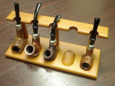 Wooden Pipe Rack for Five Pipes New & Boxed