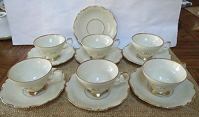 Edelstein - Bavaria - Maria Theresia - Dek Hackefors Set of 6 Cups and 7 Saucers