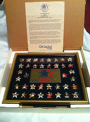 1984 Olympics Ltd Edition Collectors Pins Series 2 Collector Set No 8234