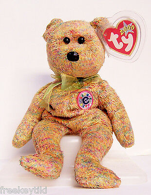 Ty Beanie Baby Babies SPECKLES the Bear Plush Stuffed Animal 2000