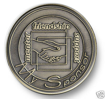 Bronze Handshake Sponsor  AA/NA 12 Step Program Recovery Coin/ Chip/Token