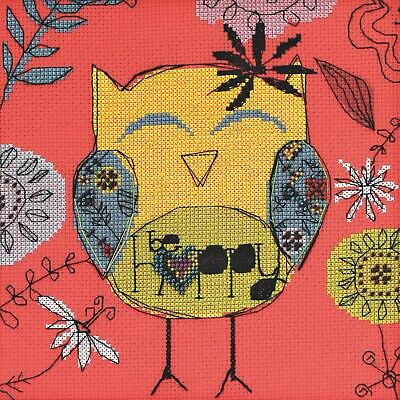 Be Happy Owl Bead Counted Cross Stitch Kit Mill Hill Amylee Weeks 2014
