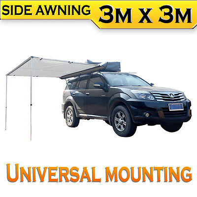 New SAFARI 3m x 3m Car Awning Tent 4WD 4X4 Roof Rack Camping Outdoor Travel