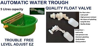 Automatic Float Valve Water Trough Bowl Stock Waterer Drinking 4 Horse Sheep Dog
