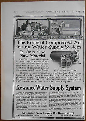 1911 vintage AD Kenwanee Water Supple Co Illinois