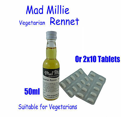 Mad Millie Vegetarian Liquid Rennet for Cheese Making 50ml bottle