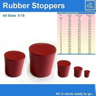 rubber stoppers size 3