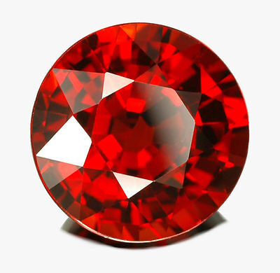 Lab Created Russian Garnets Round Gemstones 3Mm Fast & Free Delivery