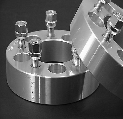 2 Pc 5x5 BILLET WHEEL SPACER ADAPTER 1.50 Inch With Lugs # 5500C1/2