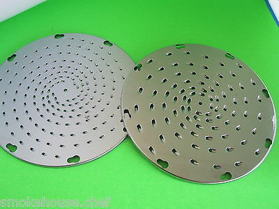 TWO  Fine Cheese Grater Shredder Disc for Pelican Food Processor Hobart etc