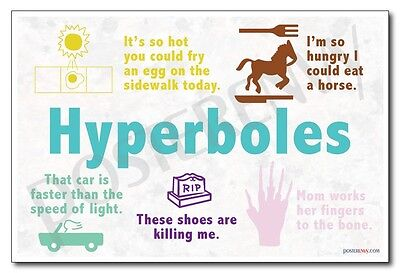 Hyperboles - NEW Classroom Reading and Writing Poster