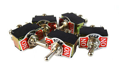 5 PIECES DPDT 10-Amp Toggle Switch with On Center Off Position Heavy Duty