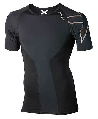 New 2XU Men Elite Compression Top Short Sleeve Jersey All Sizes FREE SHIPPING