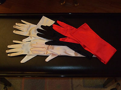 """23"""" Stretch Satin Wedding Bridal Opera Gloves Party Prom Halloween NEW 5 colors"""