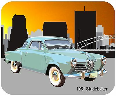 Mouse Pad Custom Thick Mousepad - 1951 Studebaker - Add Any Text For Free