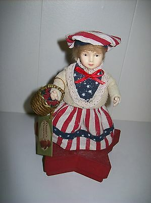 """Bethany Lowe """"Stars & Stripes Girl"""" Patriotic Box designed by Margaret Haire"""
