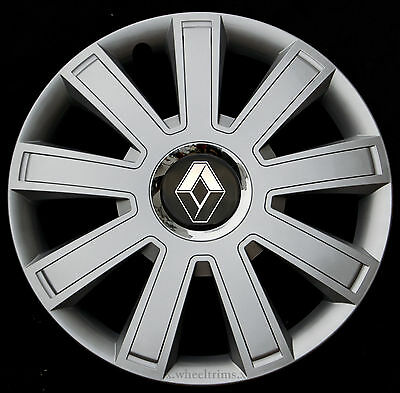 "Brand New silver 15"" wheel trims to fit Renault Scenic, Megane, Kangoo"