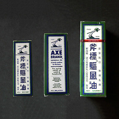 Singapore Axe Brand Universal Oil Medicated Cold Headache Analgesic Balm
