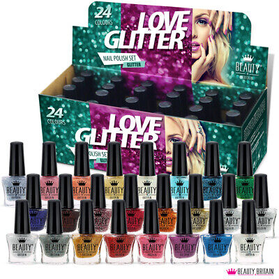 24 x Nail Polish Varnish Set for Artificial Nails 24 Colours New Design