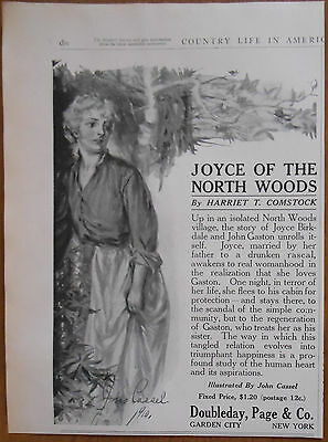 1911 vintage promo AD Harriet T. Comstock Doubleday Co ORIGINAL ADVERTISING