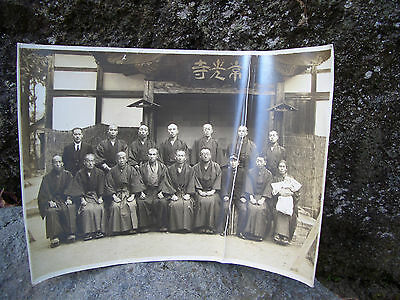 1938 old photo Japan relatives kanji charactor badk their name taken year #1264