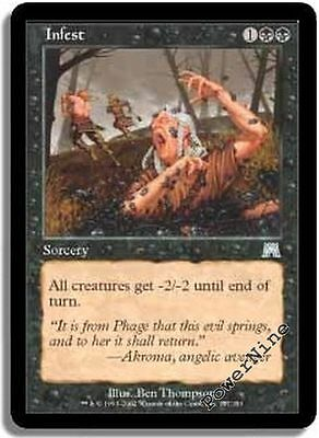 Infest FOIL Onslaught NM Black Uncommon MAGIC THE GATHERING MTG CARD ABUGames
