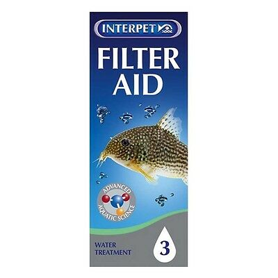 100ml INTERPET FISH TANK AQUARIUM TREATMENT FILTER AID FOR CRYSTAL CLEAR WATER