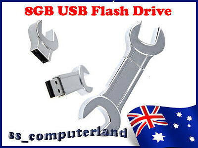 Stainless Duo Spanner Wrench 8GB USB 2.0 Memory Stick USB Flash Drive
