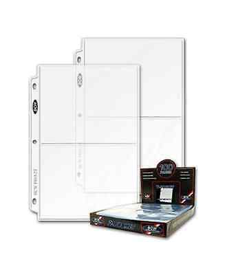 100 BCW Pro 2-Pocket 5 x 7 Photo Album Pages Binder Ultra Sheets INCLUDES BOX