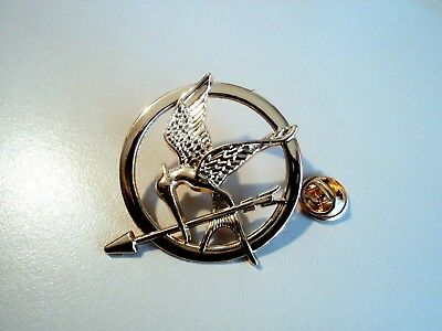 New Hunger Games Bronze Gold Plated Katniss Mockingjay Pin Brooch Replica Prop