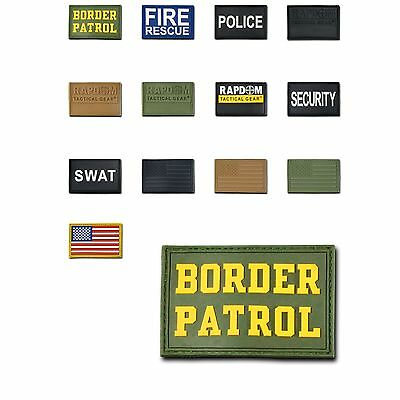 1 Dozen Tactical Operator Contractor 3x2 Rubber Patch Patches Wholesale