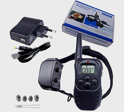 300m Remote Electric Shock Anti-bark Pet Training Collar w/LCD display for 1 Dog