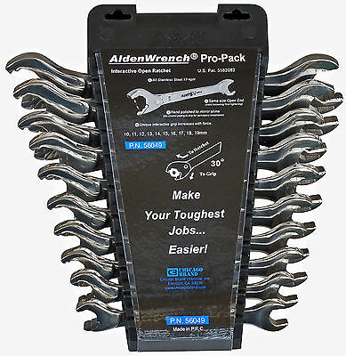 10pc Alden/Chicago Brand Metric Stainless Steel Wrench Set Part #56049