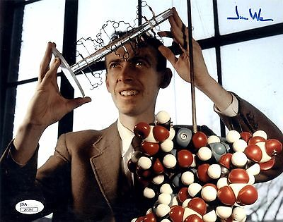 James Watson Signed 8x10 Photo Founder of DNA The Double Helix - JSA COA