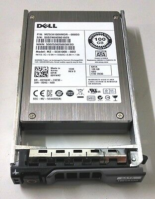 Dell 100GB SATA SSD 2.5in DYW42 Drive and Tray for PowerEdge T320 T420 T620