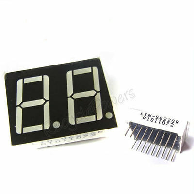 """0.56"""" 7 Segment Red Color Light LED Display 2 Digit Common Anode"""