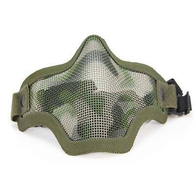 Green Wire mesh face mask Skull Tactical Military skirmish paintball zombie war