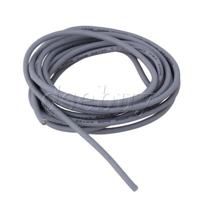 Grey 2-Conductor 26Awg Shielded Guitar Pickup Lead Wire 9ft Length