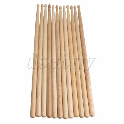6 Pair Music Band Maple Wood Drum Sticks Drumsticks 5A